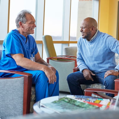 Patient and Visitor in a Healthcare Facility