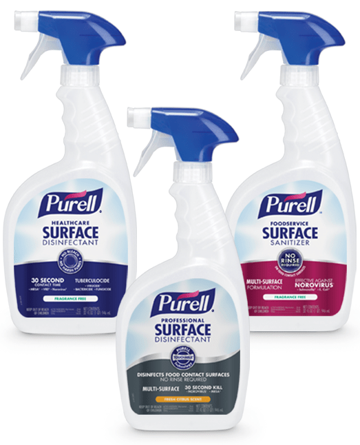 PURELL Surface Sanitizing Spray and Wipes