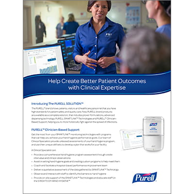 PURELL® Clinician-Based Support