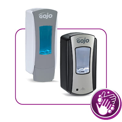 GOJO provides a wide variety of soaps for restrooms, breakrooms – even shower facilities. Good hygiene is one of the best ways to prevent the spread of germs.