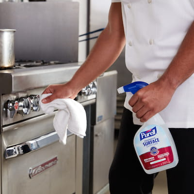 PURELL Foodservice Surface Sanitizer in kitchen