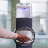 PURELL Hand Sanitizer in use