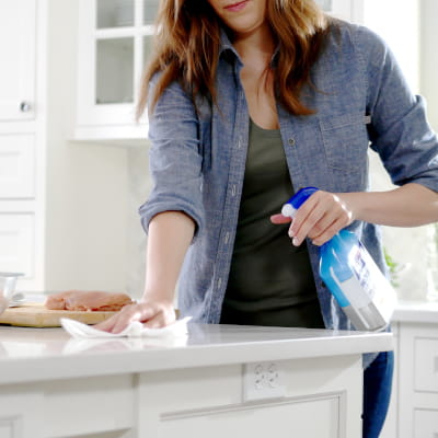PURELL surface spray in kitchen