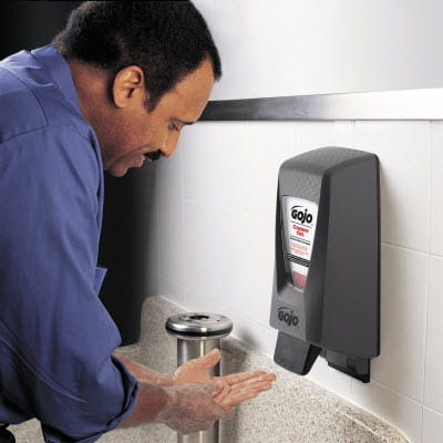 GOJO Soap, man washing his hands