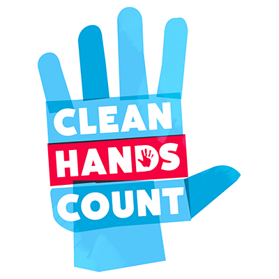 CDC Clean Hands Count Logo