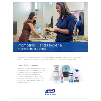 Promoting Good Hand Hygiene Information Sheet Download with PURELL products