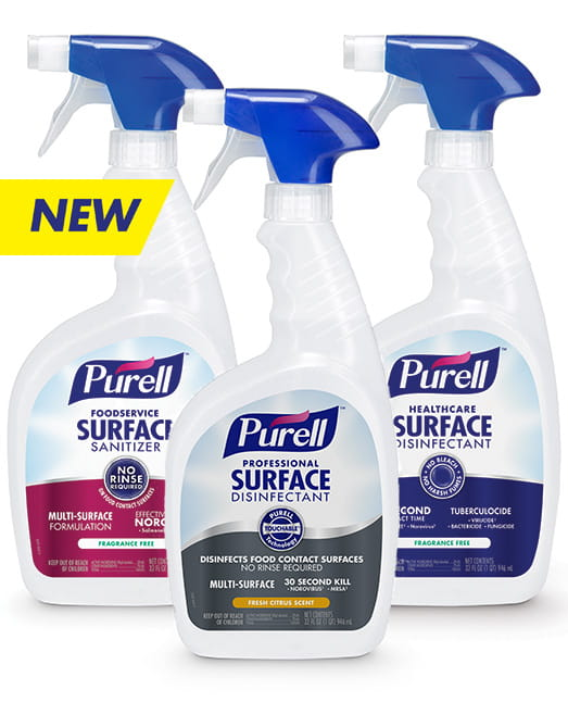 NEW PURELL™ Surface Disinfectants & Sanitizers
