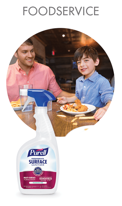PURELL™ Foodservice Surface Sanitizers for Restaurants
