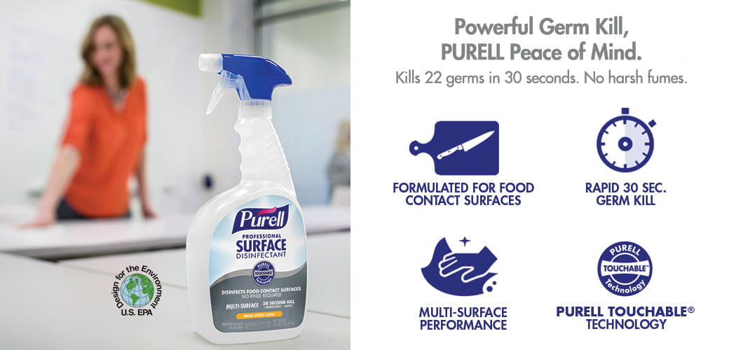 PURELL™ Surface Disinfectants and Sanitizers