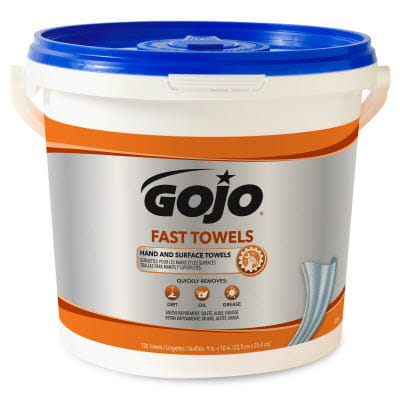 GOJO Fast Towels 130 Count Bucket