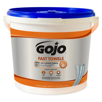 GOJO Fast Towels 225 Count Bucket