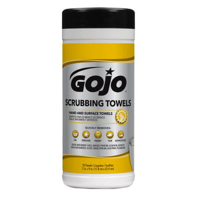 GOJO Scrubbing Towels 25 Count Canister